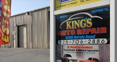 King's Auto Repair sign