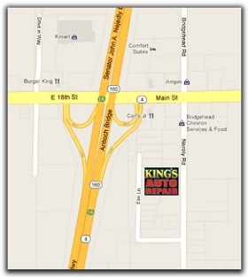 Map of King's Auto